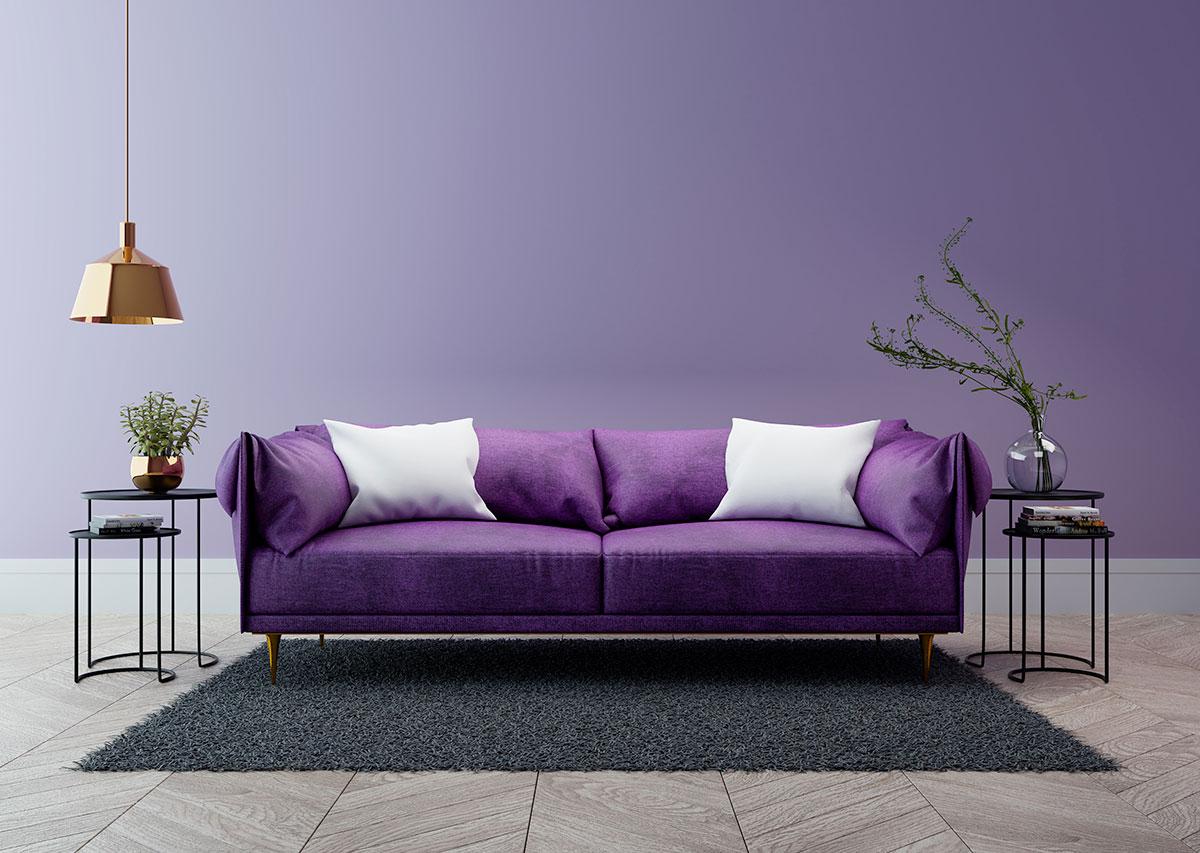 colori dell'anno nell'arredamento: ultraviolet